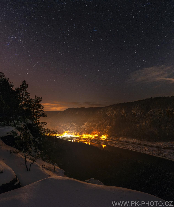 zima v Labském kaňonu