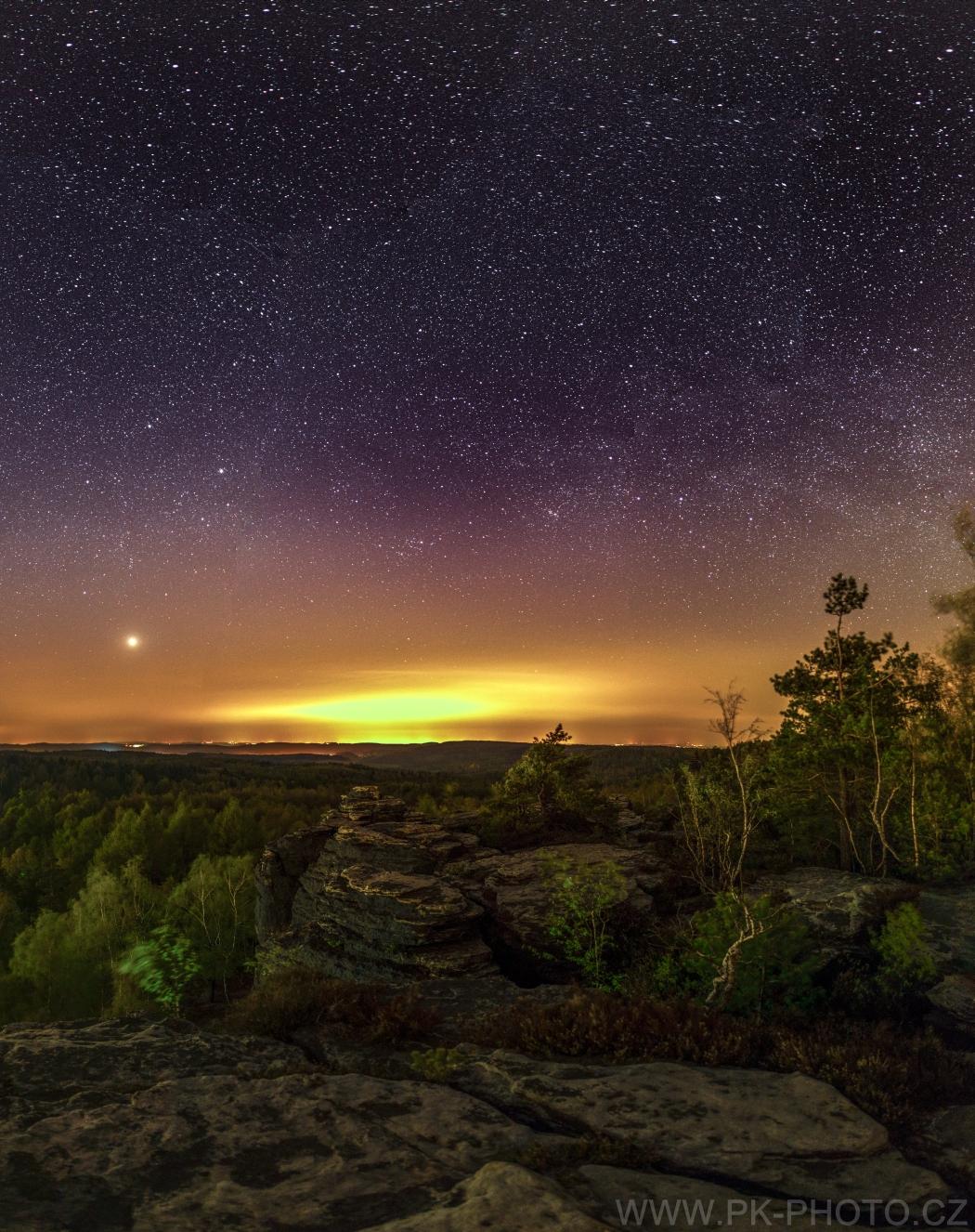 jarní noc v Tiských stěnách