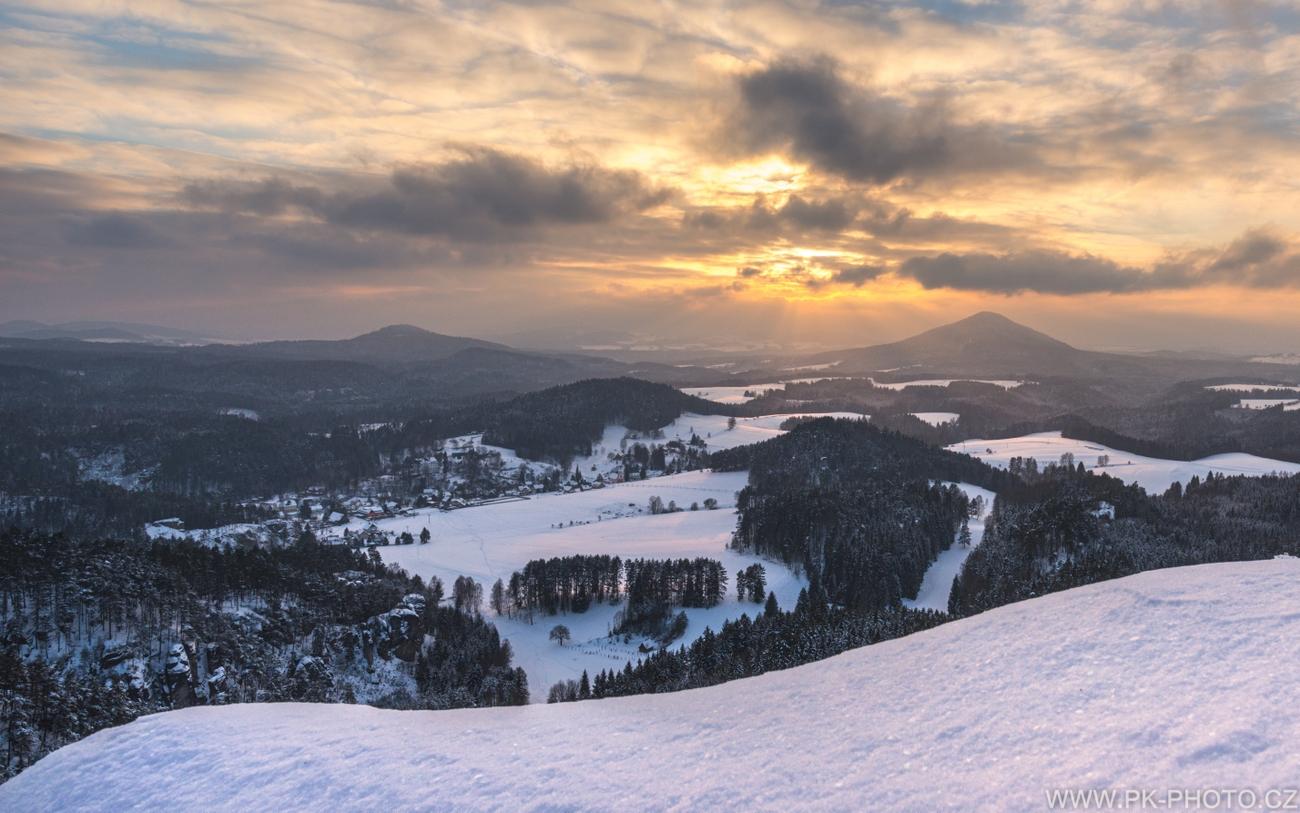 kouzlo zimy v Českém Švýcarsku