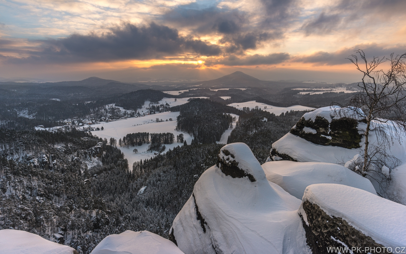 zimní krajina Českého Švýcarska