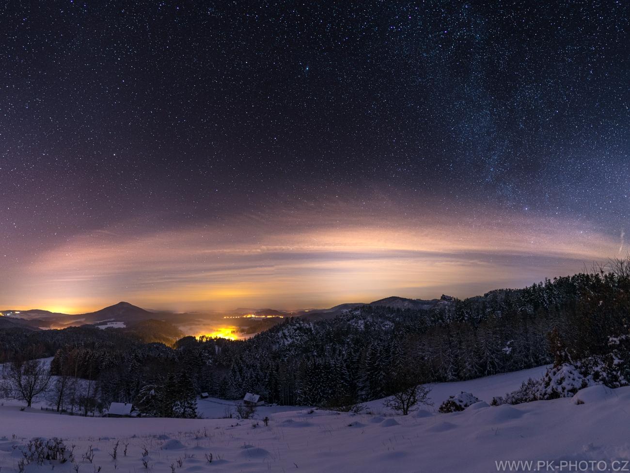 zimní obloha