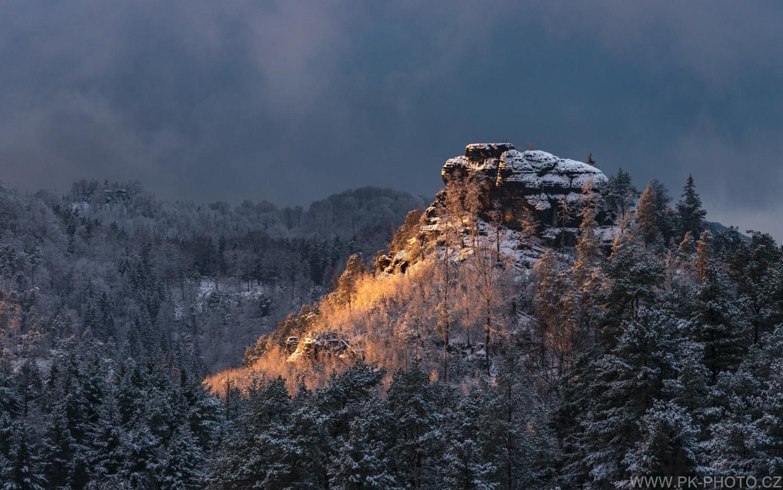 zimní Mariina vyhlídka bez vyhlídky :)