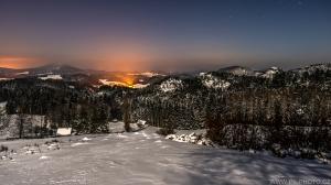 mrazivá noc v Českém Švýcarsku