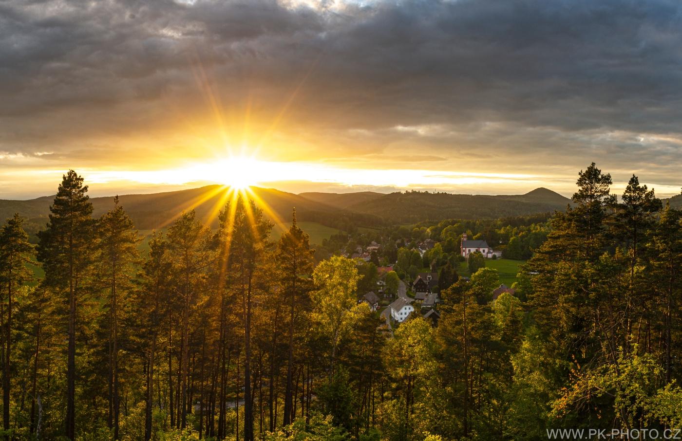 západ slunce nad Mařenicemi