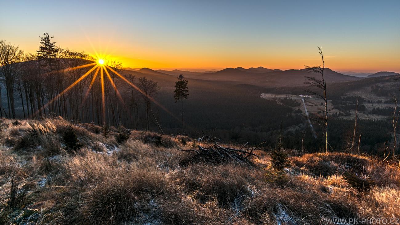 západ slunce z Bouřného