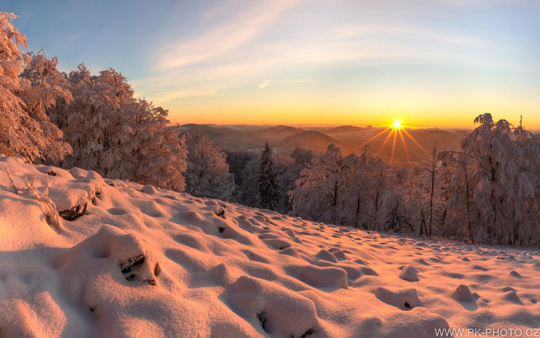 mrazivý východ slunce na Studenci