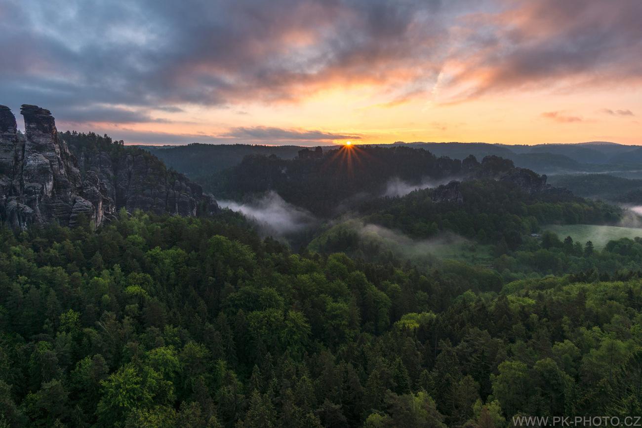 jarní ráno v Sasku