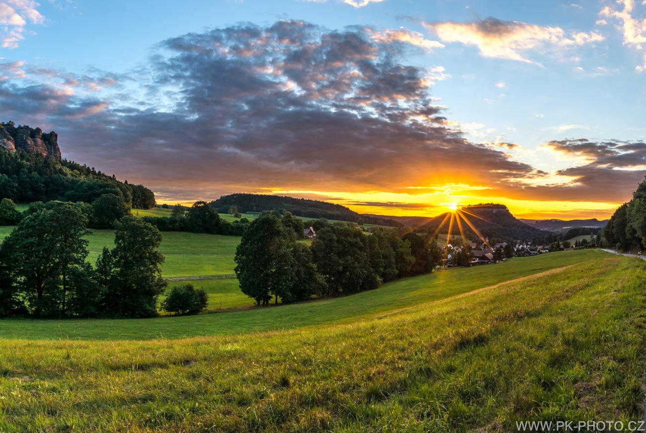 západ slunce nad pevností Königstein