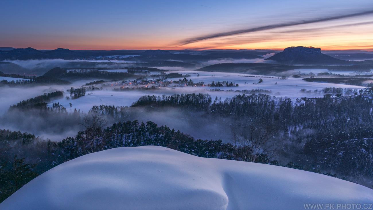zimní mlhy