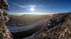 kaňon Labe v zimě