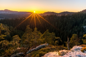 západ slunce z Arnsteinu