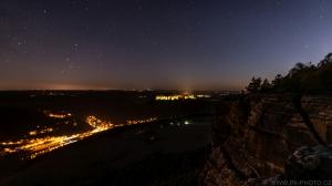 noc v Saském Švýcarsku