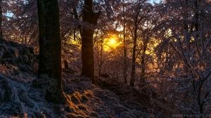 mrazivý západ slunce 2